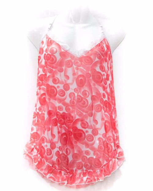 Buy Women's Short Nighty Red & White Online in Karachi, Lahore, Islamabad, Pakistan, Rs.{{amount_no_decimals}}, Nighty Online Shopping in Pakistan, diKHAWA, cf-type-nighty, cf-vendor-dikhawa, Clothing, Nightwear, Nighty, Women, Online Shopping in Pakistan - diKHAWA Fashion