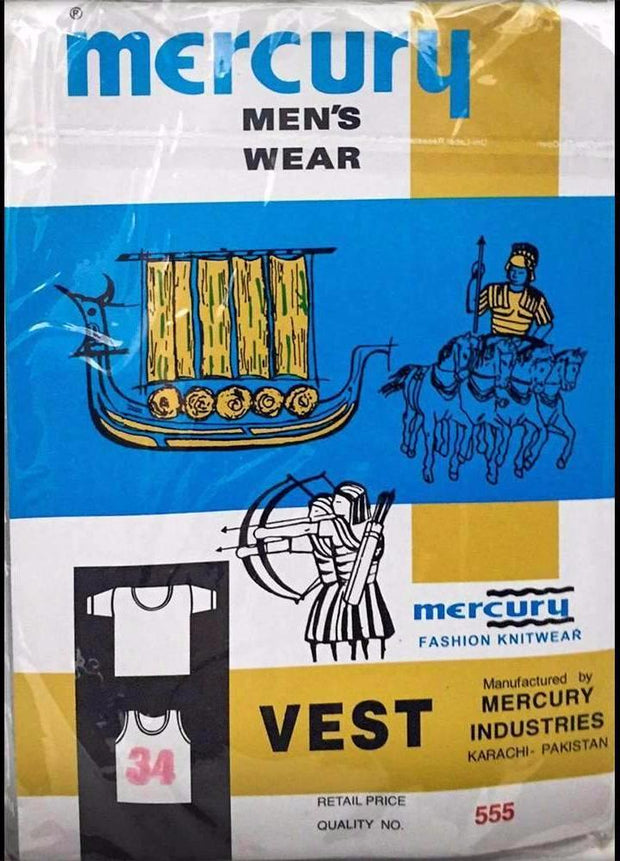 Mercury Sleeveless Vest - Vest - Banian - diKHAWA Online Shopping in Pakistan