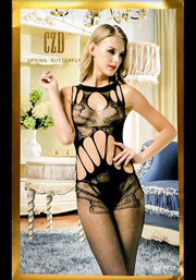 Spring Butterfly Bodystocking - 8828 - Body Stocking - diKHAWA Online Shopping in Pakistan