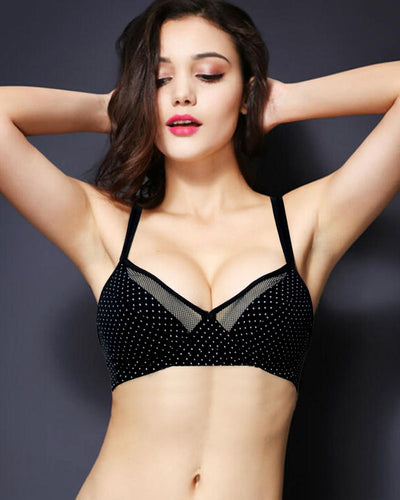 Vena Lingerie Soft Padded Bra Black - Bras - diKHAWA Online Shopping in Pakistan