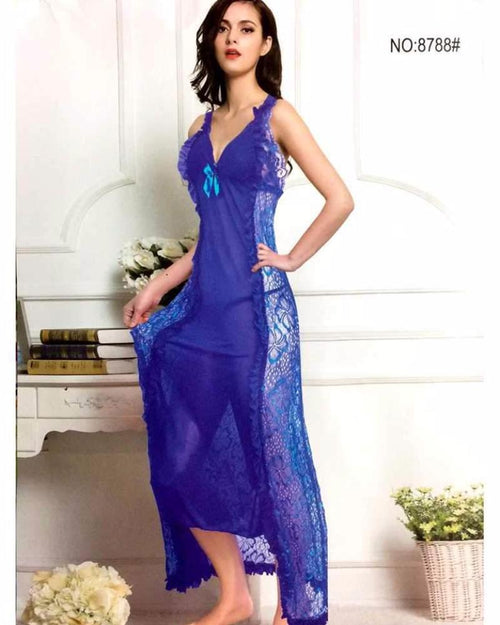 Long Net Nighty - 8788 - Nighty - diKHAWA Online Shopping in Pakistan