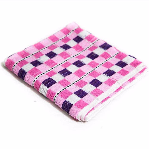 Colorful Check Hand Towel - Export Quality – 24