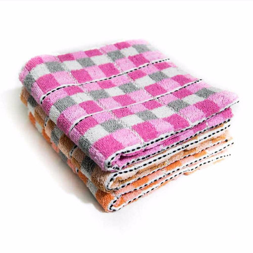 Pack Of 3 – Multi Check Cotton Towels – Export Quality – 20