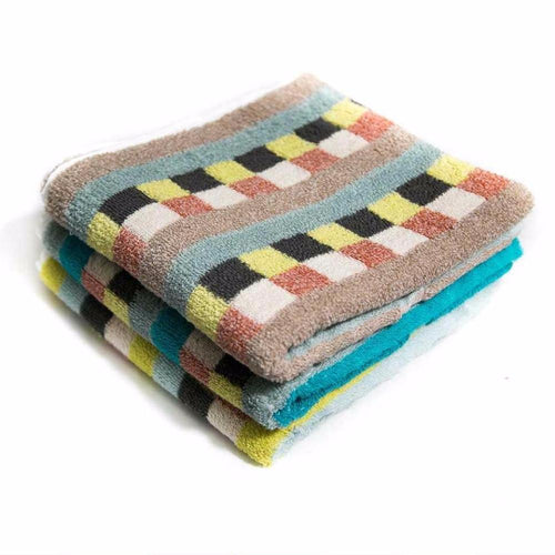 Pack Of 3 – Colorful Checkered Microfiber Cotton Towels – Export Quality – 20