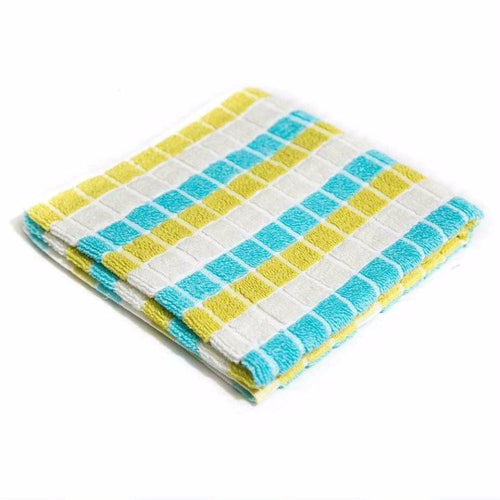 Colorful Checked Microfiber Cotton Towels – Export Quality – 20