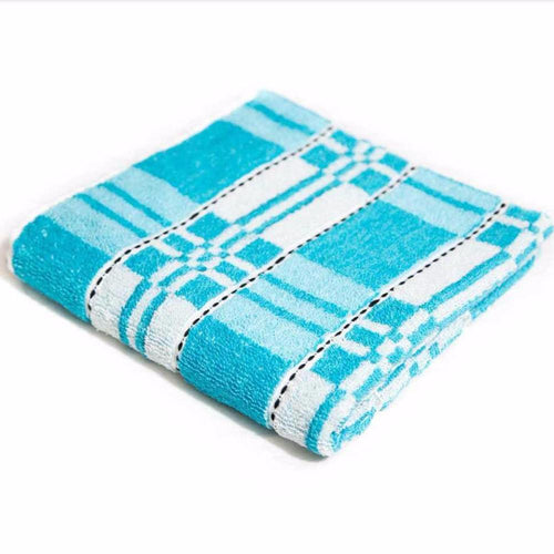 Blue Microfiber Cotton Towels – Export Quality – 20
