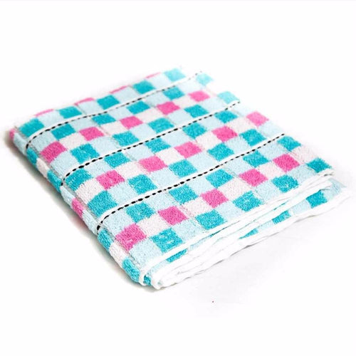 Colorful Check Cotton Hand Towels – Export Quality – 24