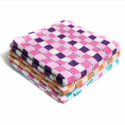 Pack of 3 - Colorful Check Hand Towel - Export Quality – 24