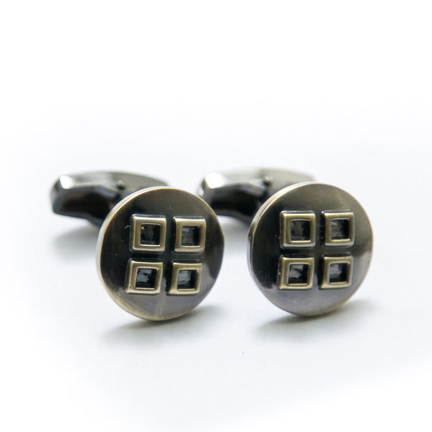 Antique Cufflinks For Mens Wedding Shirt – Rounded & Windows - Cufflinks - diKHAWA Online Shopping in Pakistan