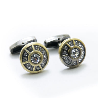 Antique Cufflinks For Mens Wedding Shirt – Rounded & Diamond - Cufflinks - diKHAWA Online Shopping in Pakistan