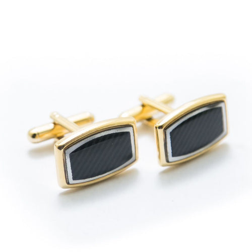 Mens Cufflinks Golden & Black – Top Quality Cufflinks Mens Gift