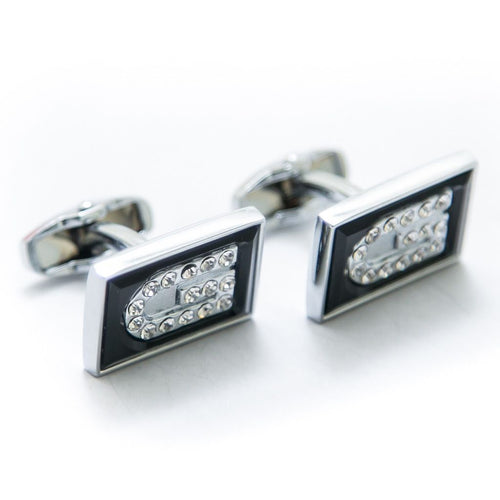 Exclusive Mens Cufflinks Online – Black & Silver – Limited Edition – JS-502 - Cufflinks - diKHAWA Online Shopping in Pakistan