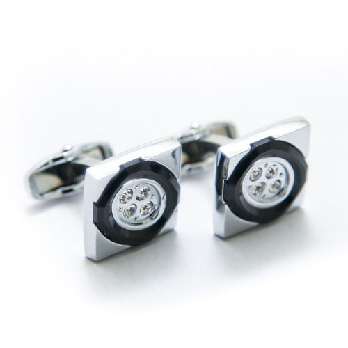 Exclusive Mens Cufflinks Online – Black & Silver – Limited Edition – JS-508 - Cufflinks - diKHAWA Online Shopping in Pakistan