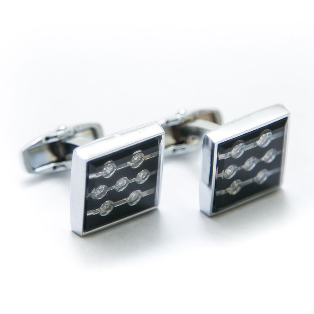 Exclusive Mens Cufflinks Online – Black & Silver – Limited Edition – JS-516 - Cufflinks - diKHAWA Online Shopping in Pakistan