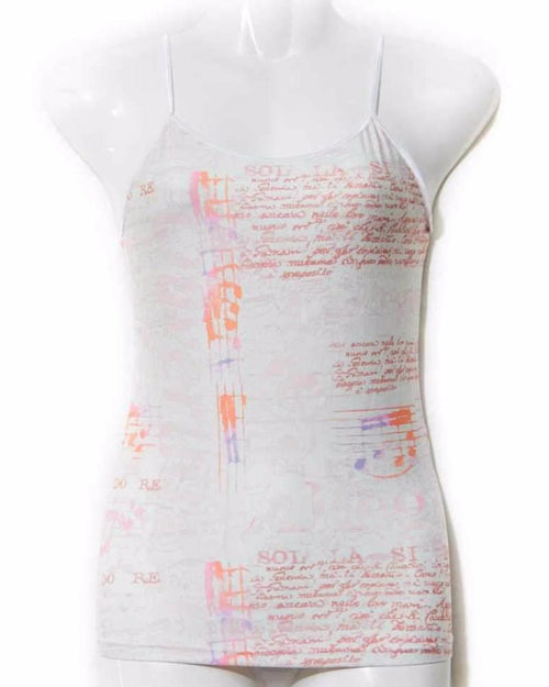 Off White Teen Age Printed Camisole - Camisole - diKHAWA Online Shopping in Pakistan