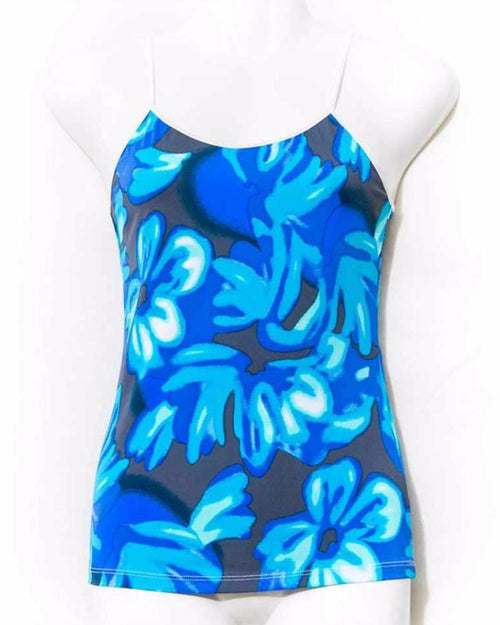 Blue & Black Teen Age Floral Camisole - Camisole - diKHAWA Online Shopping in Pakistan