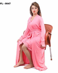 Peach Flourish 2Pc Women Nightwear - FL-0047 - Nighty Sets - diKHAWA Online Shopping in Pakistan