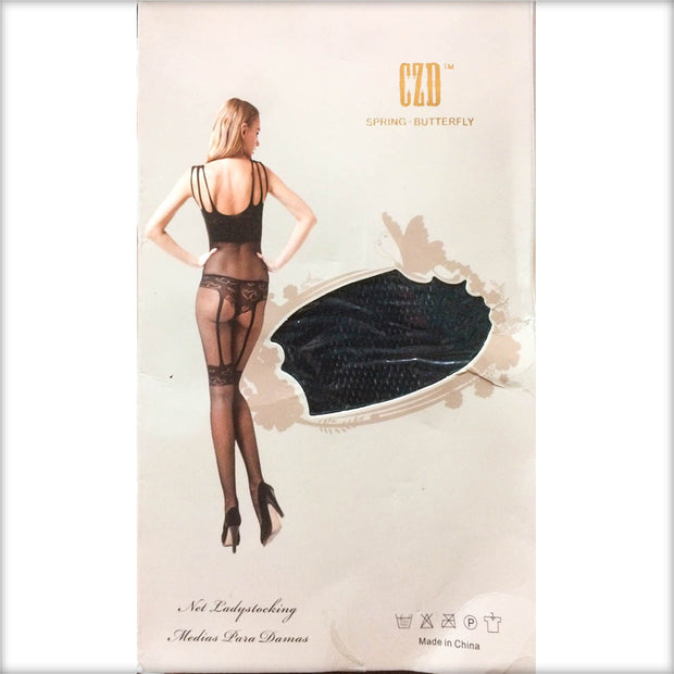 Stocking Spring Butterfly CZD - CPG-8843 - Body Stocking - diKHAWA Online Shopping in Pakistan