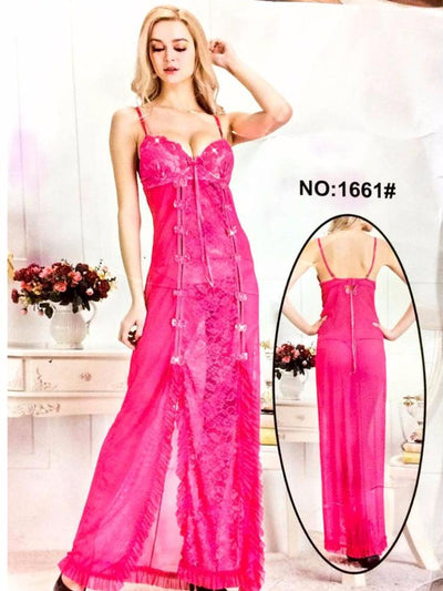 Long Net Nighty Sleeveless For Women - CPG-1661 - Nighty - diKHAWA Online Shopping in Pakistan