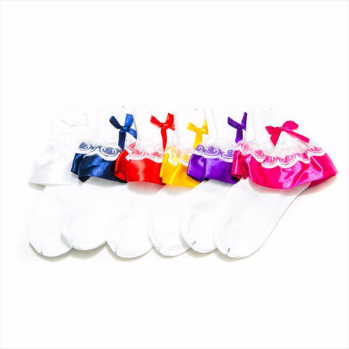 Kids Frill Socks – 8 to 10 Years Kids – KL-32 – Pack Of 3 - Kids Socks - diKHAWA Online Shopping in Pakistan