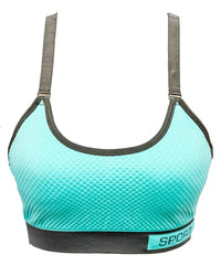Sky Blue Wirefree Sports & Jim,Yoga Bra For Ladies -Girls Sports Bra - By Lubunie