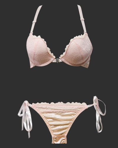 Front Open Pushup 8809 Skin Bra Panty Set ,Single Padded Wired Bra - 902 MiMi
