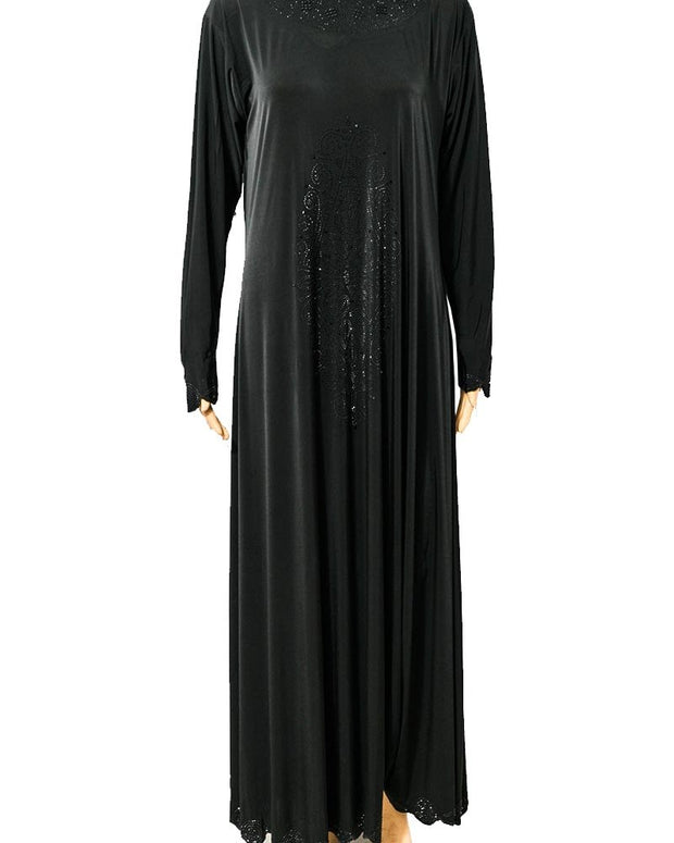 Ladies Abaya Online Shopping in Pakistan. For Rs. Rs.1300.00, ID - NN201535, Brand = Hijab-un-Noor, Fancy & Stylish Jersey Abaya & Hijab With Black Crystals in Karachi, Lahore, Islamabad, Pakistan, Online Shopping in Pakistan, abaya, Abaya Store Online Pakistan, Brand_Hijab Un Noor, Buy Abaya Online Shopping In Pakistan, Clearance Sale, clothing, Colour_Black, Fashion, hijab, Hijab and Abaya Store Pakistan Online, Hijab Ul Hareem, Latest Abaya In Islamabad, Online Shopping Abaya, Online Shopping In Karachi Abaya, Order Abaya Online Store, Sale on Abaya Store Online, Shop Latest Abaya Store Online, Size_Medium, trend, Type_Abaya, Type_Clothing, Type_Pakistani Clothing, Type_Women, Women, Womens Pakistani Clothing, diKHAWA Fashion - 2020 Online Shopping in Pakistan