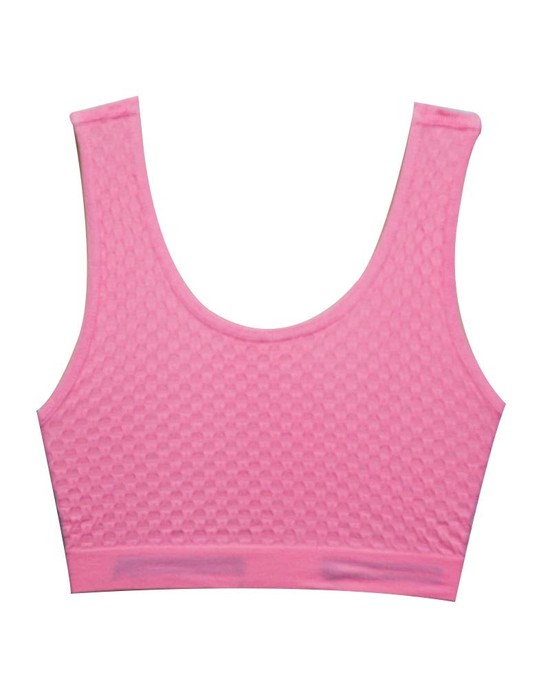 Pink Sports Bra Strapless Non Padded - For GYM Womens