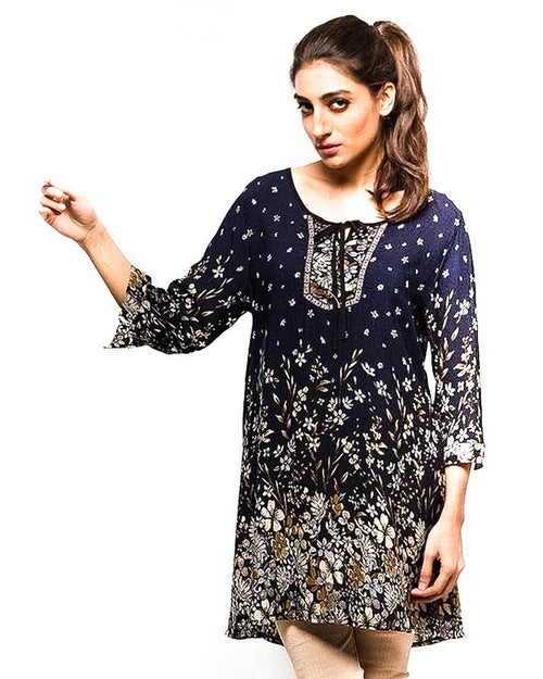 Fancy Digital Printed Lawn Kurti FL2157C - for Women & Office Girls - Stitched