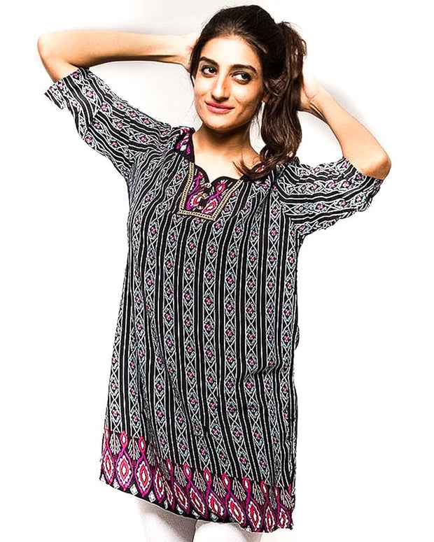 Fancy Digital Printed Lawn Kurti FL2150B - for Women & Office Girls - Stitched Kurti