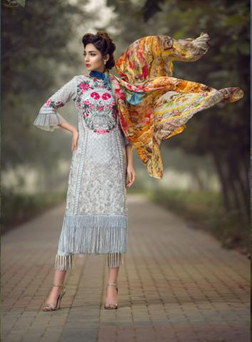 ASIFA & NABEEL SILK SUIT - Replica - Unstitched