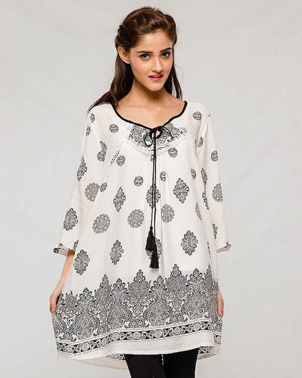 Printed Stylish Lawn Kurti Form Women - Stitched Kurtis For Girls
