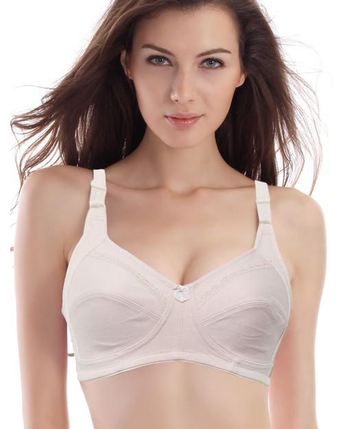 Pack of 2 Skin Embroidered Bra – Cotton Bra – 201 & 603 – Non Padded – Thailand Bra