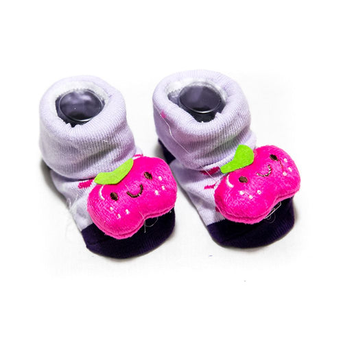 Newborn Baby Boy & Girl Shoes – 3 To 18 Months Kids – Purple - Baby Shoes - diKHAWA Online Shopping in Pakistan