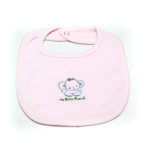 Baby Bibs & Burp Cloth – Feeding Saliva Towel – Pink Friend - Bibs & Burp Cloth - diKHAWA Online Shopping in Pakistan