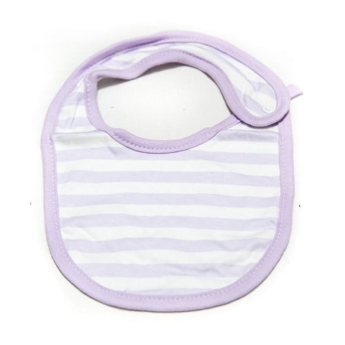 Baby Bibs & Burp Cloth – Feeding Saliva Towel – Purple Line - Bibs & Burp Cloth - diKHAWA Online Shopping in Pakistan