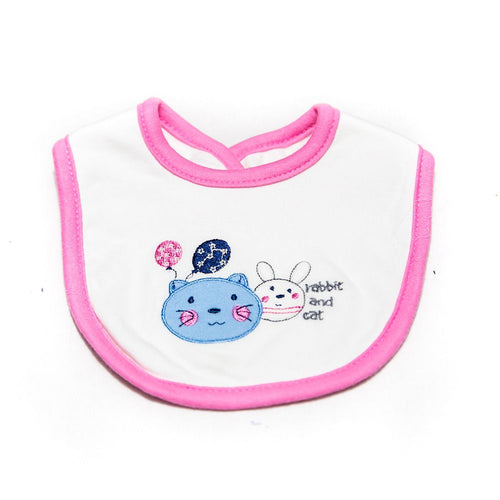 Baby Bibs & Burp Cloth – Feeding Saliva Towel – Rabbit & Cat - Bibs & Burp Cloth - diKHAWA Online Shopping in Pakistan