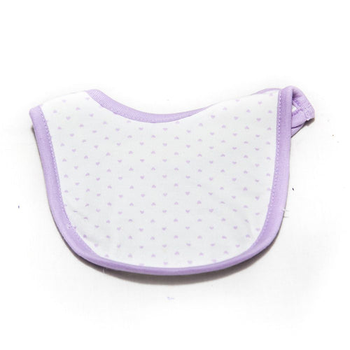 Baby Bibs & Burp Cloth – Feeding Saliva Towel – Purple Heart - Bibs & Burp Cloth - diKHAWA Online Shopping in Pakistan