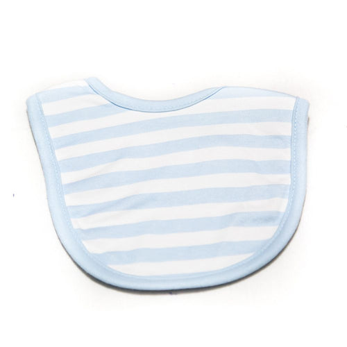 Baby Bibs & Burp Cloth – Feeding Saliva Towel – White & Blue Line - Bibs & Burp Cloth - diKHAWA Online Shopping in Pakistan