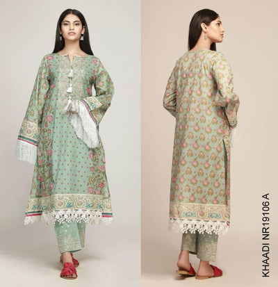 Khaadi Summer Collection Lawn Fabric - Replica - Unstitched
