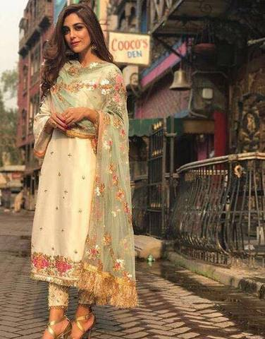 MAYA SILK SUIT - Replica - Unstitched