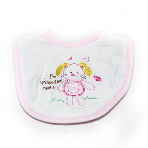 Baby Bibs & Burp Cloth – Feeding Saliva Towel – Pink Doll - Bibs & Burp Cloth - diKHAWA Online Shopping in Pakistan