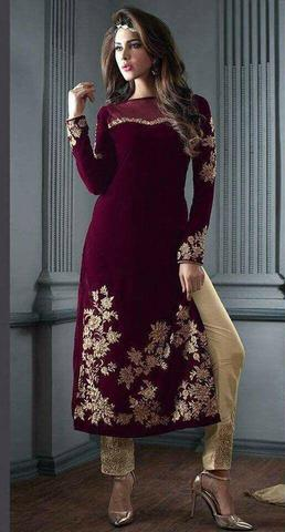 INDIAN VELVET SUIT - Replica - Unstitched
