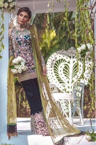 ELAN CHIFFON EMBROIDERED SUIT - Replica - Unstitched