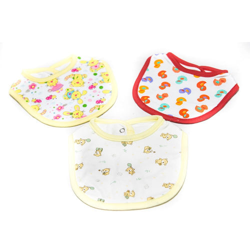 Baby Bibs & Burp Cloth – Feeding Saliva Towel – Pack Of 3 - Bibs & Burp Cloth - diKHAWA Online Shopping in Pakistan