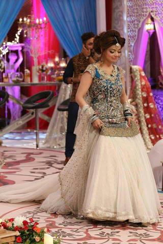 KASHEE'S BRIDAL NET LEHENGA - Replica - Unstitched