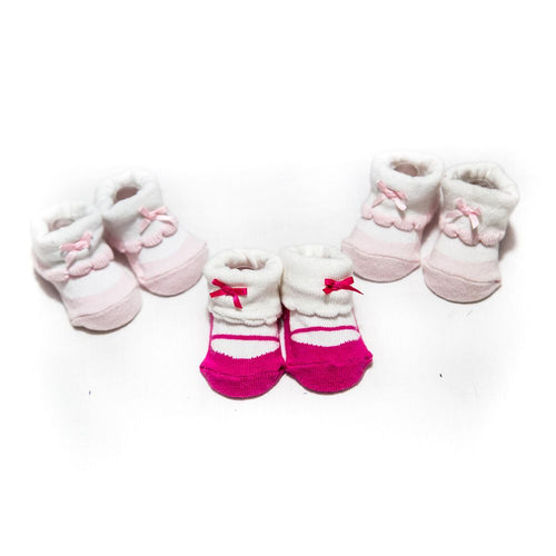 Newborn Baby Girl Shoes – 0 Till 12 Months – Pack Of 3 - Baby Shoes - diKHAWA Online Shopping in Pakistan