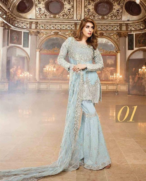 Royal Embroidery Chiffon Suit