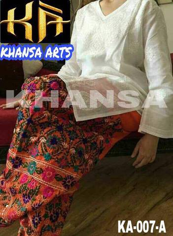 KHANSA ART EMBROIDERED COTTON SUIT - Replica - Unstitched