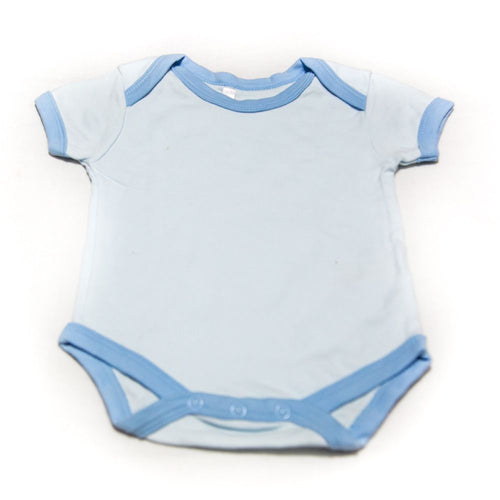Newborn Baby Boys Girls Romper Bodysuit For 0 To 3 Month Kids – Light Blue - Romper - diKHAWA Online Shopping in Pakistan